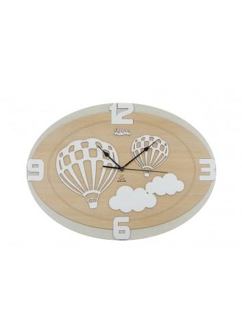 Orologio decoro Mongolfiera 33 x 45 cm D6301 Cuordiprincipe Cuorematto