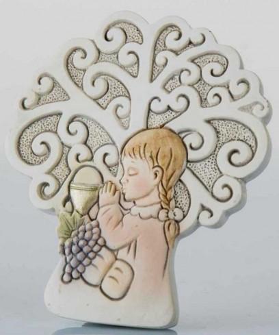 Icona Comunione bimba con albero della vita da appoggio B9247 Kharma Living