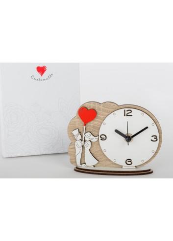 Orologio da appoggio Sposini 14 x 11 cm D6295 Cuordiprincipe Cuorematto