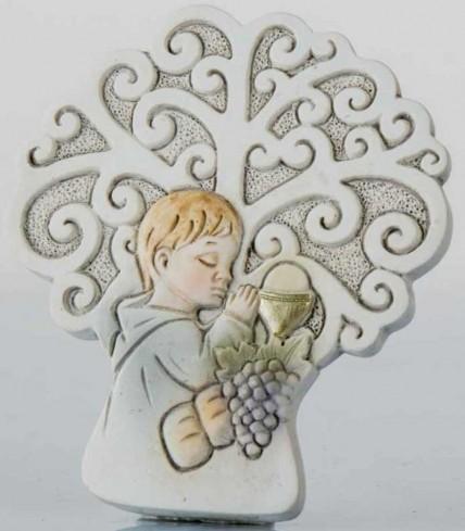 Icona Comunione bimbo con albero della vita da appoggio B9246 Kharma Living