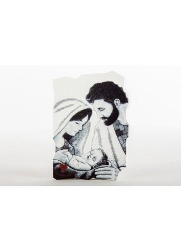 Icona in resina Sacra Famiglia 5 x 7 cm D6289 Icone Cuorematto