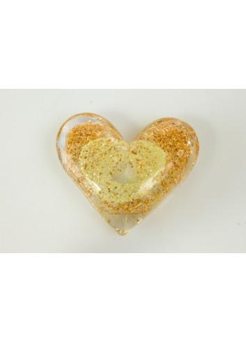 Cuore d'amore in vetro 8,5 x 7,2 cm D5938 Nodo d'amore Cuorematto