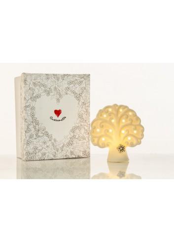 Lampada led Albero della vita in ceramica D5853/D5854 Simply White Cuorematto