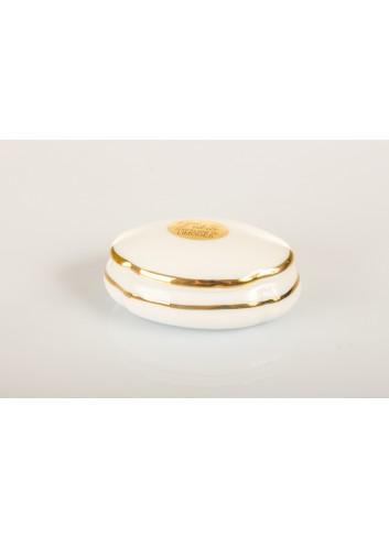 Scatola ovale in porcellana con decoro filo color oro Ø 6,5 cm D5317 Etoile Cuorematto