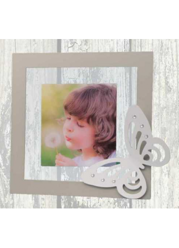 Metal and plexiglass Photoframe with metal Butterfly application + strass NNA-01-1-2-3 Series Arianna Negò