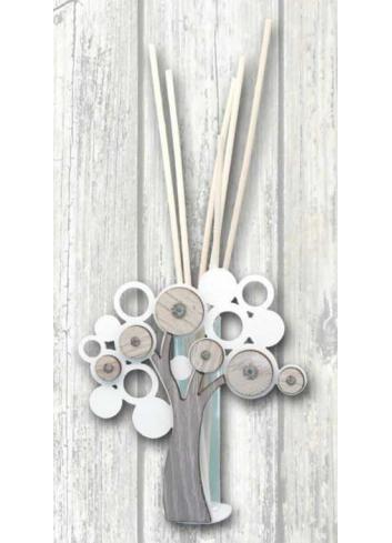Profumatore Albero della vita in metallo e legno + strass LFE-02 Serie Life 2020 Negò