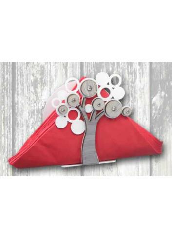 Portacarte Albero della vita in metallo e legno + strass LFE-04 Serie Life 2020 Negò