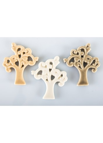 Magnet in the shape of a Tree of Life 3 assorted colors 4 x 3 cm A7648 Kharma Living