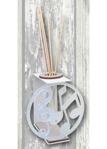 Profumatore in metallo bianco con applicazione Note musicali in plexigass satinato TRA-12 Serie Transparent 2020 Negò