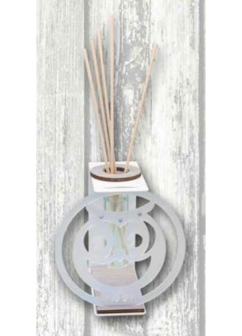 Profumatore in metallo bianco con applicazione Gufetto in plexigass satinato TRA-15 Serie Transparent 2020 Negò