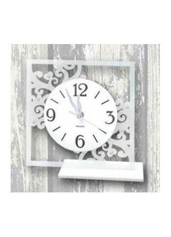 White metal clock RAM-03-08-06 Series Embroidered Negò