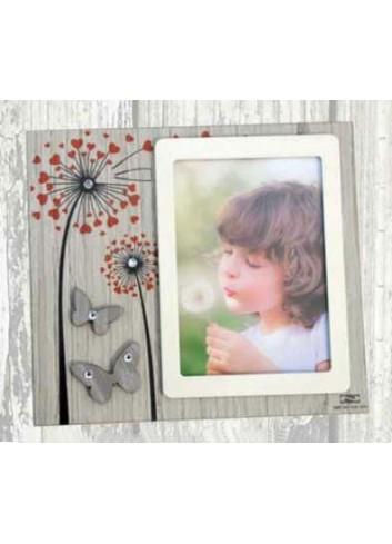 Portafoto in legno con stampa colorata Soffioni + strass ARI-01-1-2 Serie Soffioni 2020 Negò