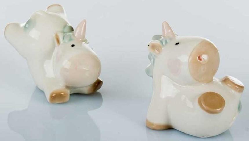 Unicorno in ceramica 2 modelli assortiti A7713 Kharma Living