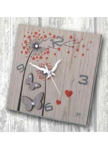 Orologio in legno con stampa colorata Soffioni + strass ARI-03-08-06 Serie Soffioni 2020 Negò