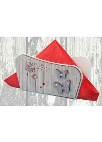Portatovaglioli in legno con stampa colorata Soffioni + strass ARI-04 Serie Soffioni 2020 Negò