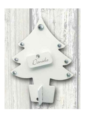 White metal small Christmas tree placeholder + strass+ neutral plate NA-ALB-01 2020 Christmas Series Negò