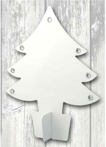 Albero di Natale medio in metallo bianco + strass NA-ALB-02 Serie Natale 2020 Negò