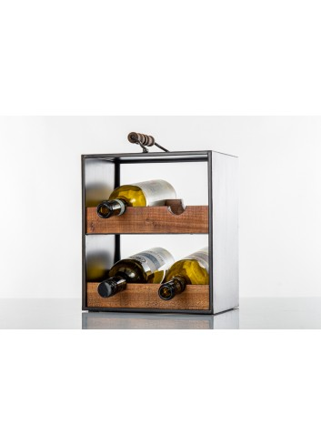 Wooden Cabinet with handle for 4 bottles 38 x 19 x 28 cm E3499 Kharma Living
