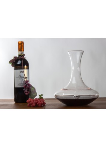 Glass Decanter for wine 2250 ml Ø 19 x 24 H. cm H3102 Kharma Living