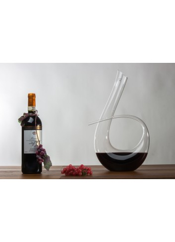 Glass Decanter for wine 1300 ml 25 x 40 H. cm H3101 Kharma Living