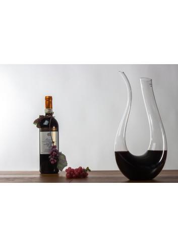 Glass Decanter for wine 1500 ml 19 x 35 H. cm H3100 Kharma Living