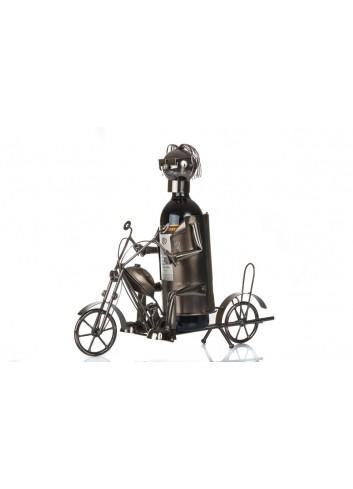 Metal Motorcyclist bottle holder 34 x 13 x 38 cm E3466 Kharma Living