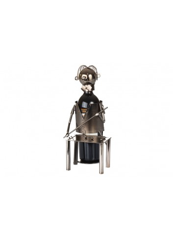 Metal Biliards bottle holder 32 x 18 x 18 cm E3465 Kharma Living