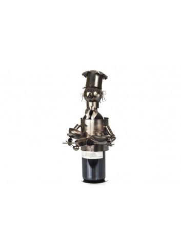 Cuoco portabottiglia in metallo 35 x 17 x 16 cm E3322 Kharma Living