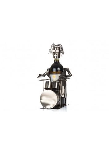 Metal Drummer bottle holder 33 x 19 x 18 cm E3321 Kharma Living