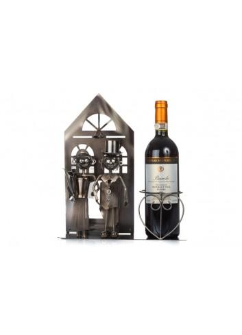 Metal Newlyweds bottle holder 33 x 10 x 28 cm E3320 Kharma Living