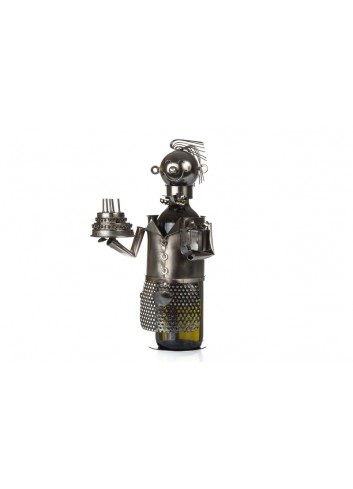 Metal Happy Birthday bottle holder 32 x 18 x 17 cm E3319 Kharma Living