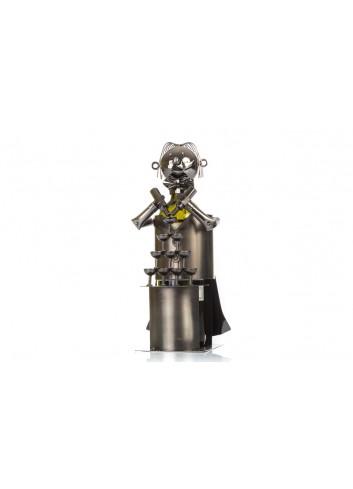 Bartender portabottiglia in metallo 32 x 14 x 16 cm E3325 Kharma Living
