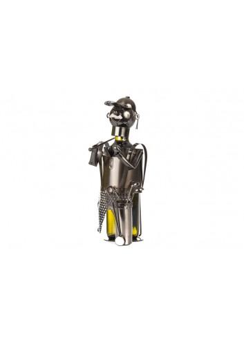 Metal Golfer bottle holder 33 x 20 x 15 cm E3329 Kharma Living