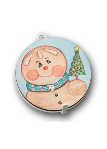 Metal hanger with colored print Gingerbread man NA-APD-02 Christmas Series 2020 Negò
