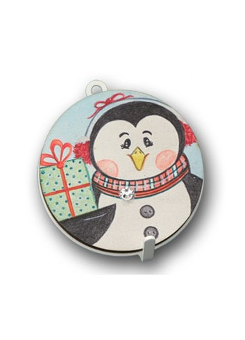 Metal hanger with colored print Penguin NA-APD-01 Christmas Series 2020 Negò