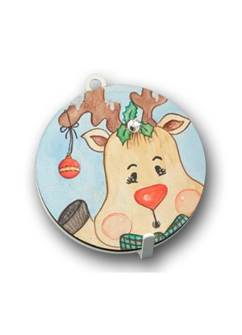 Metal hanger with colored print Reindeer NA-APD-03 Christmas Series 2020 Negò