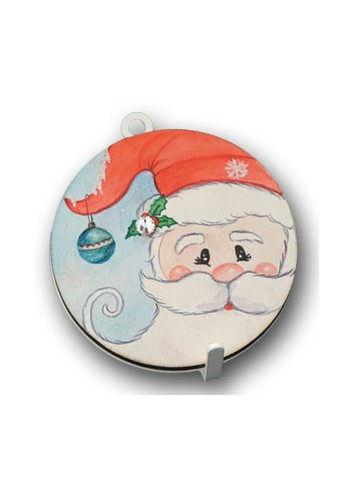 Metal hanger with colored print Santa Claus NA-APD-04 Christmas Series 2020 Negò