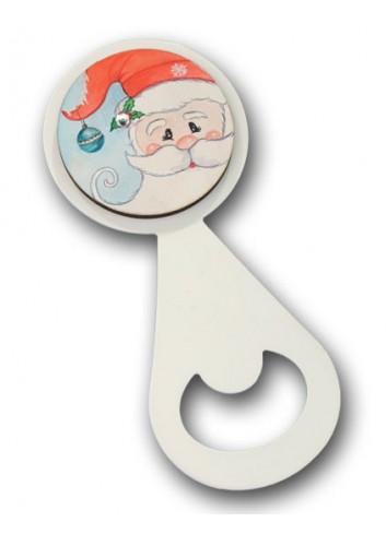 Apribottiglia in metallo con stampa colorata Babbo Natale NA-ST-04 Serie Natale 2020 Negò