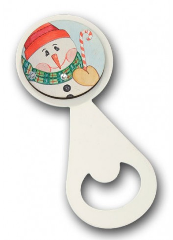 Metal bottle opener with colored print Snowman NA-ST-05 Christmas Series 2020 Negò