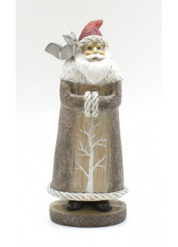 Resin Santa Claus with fox RS 5088 Stile Nordico