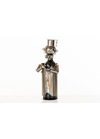 Metal graduation bottle holder 33 x 13 x 13 cm E3344 Kharma Living