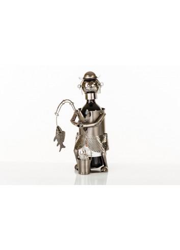 Metal fisherman bottle holder 33 x 13 x 26 cm E3335 Kharma Living