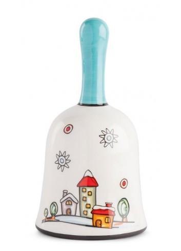Campanella in ceramica smaltata Paesaggio HC05S-3HO Happy Christmas Egan