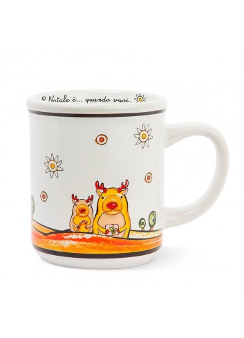 Reindeer porcelain mug PHC21-1RN Happy Christmas Egan