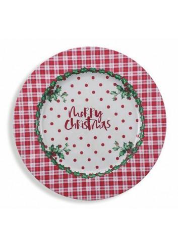 Christmas plate 6 assorted models 2190910 Villa d'Este