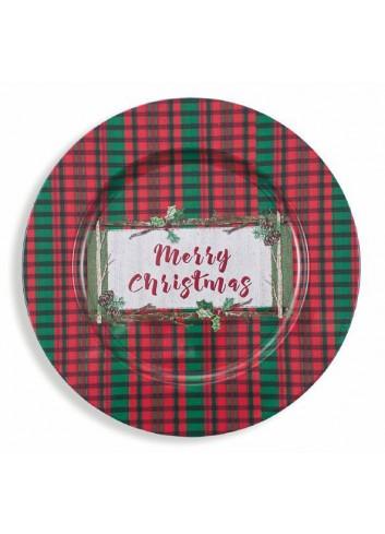 Sottopiatto Christmas 6 modelli assortiti 2190910 Villa d'Este