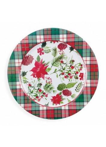 Christmas melamine round plate Ø 28 cm 2191660 Villa d'Este