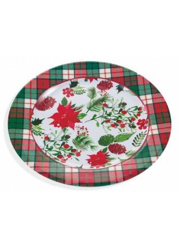 Piatto tondo Christmas in melamina Ø 28 cm 2191660 Villa d'Este