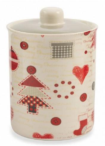 Patchwork Jar in Bone China 2 assorted decorations 2419420 Villa d'Este