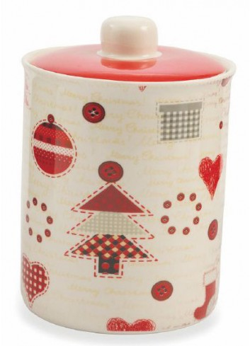 Patchwork Jar in Bone China 2 assorted decorations 2419420 Villa d'Este